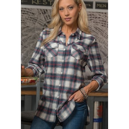 Women`s Woven Plaid Flannel Shirt von Burnside (Artnum: BU5210