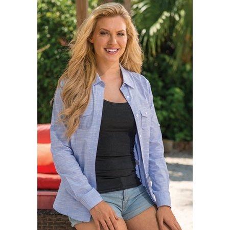 Ladies` Woven Texture Shirt von Burnside (Artnum: BU5247