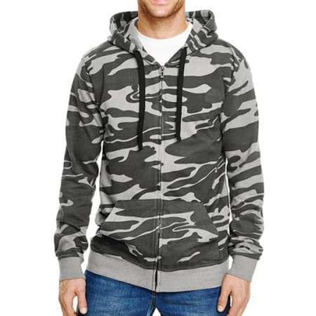 Full Zip Camo Hooded Fleece Jacket von Burnside (Artnum: BU8615