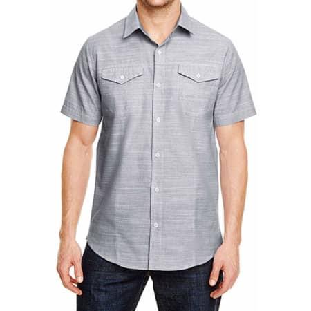 Woven Texture Shirt in Black (White Heather) von Burnside (Artnum: BU9247