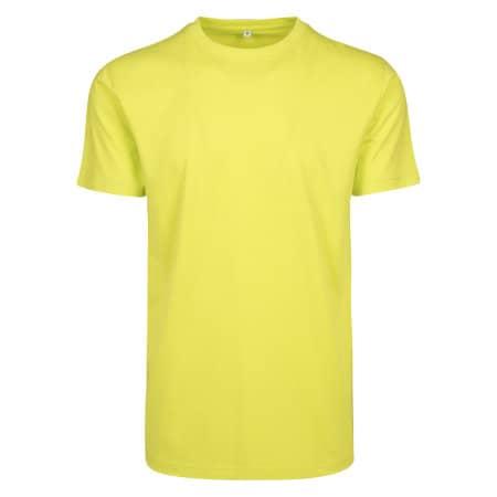 T-Shirt Round Neck in Frozen Yellow von Build Your Brand (Artnum: BY004