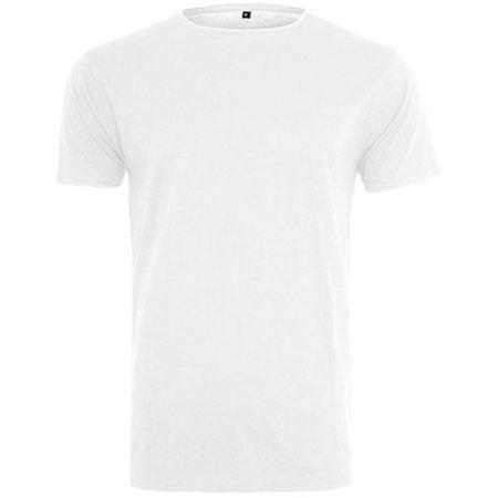 Light T-Shirt Round Neck in White von Build Your Brand (Artnum: BY005