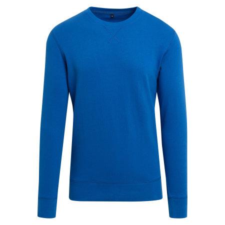 Light Crew Sweatshirt in Cobaltblue von Build Your Brand (Artnum: BY010