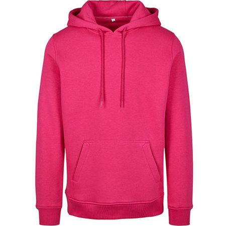 Heavy Hoody in Hibiskus Pink von Build Your Brand (Artnum: BY011