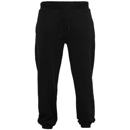 Heavy Sweatpants in Black von Build Your Brand (Artnum: BY014