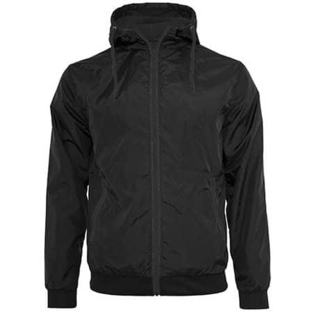 Windrunner Jacket in Black|Black von Build Your Brand (Artnum: BY016