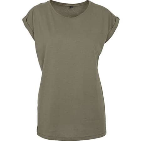 Ladies` Extended Shoulder Tee in Olive von Build Your Brand (Artnum: BY021