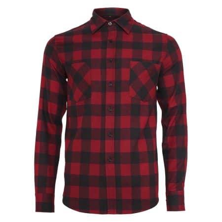 Checked Flannel Shirt von Build Your Brand (Artnum: BY031