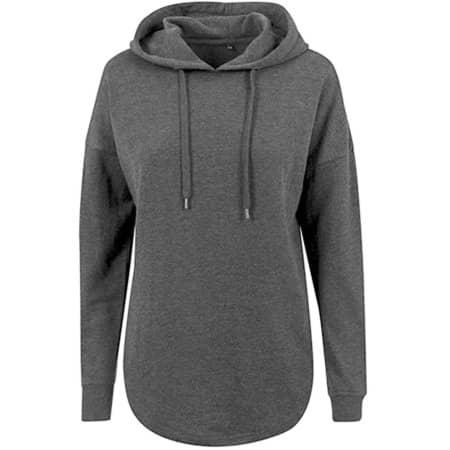 Ladies` Oversized Hoody in Charcoal (Heather) von Build Your Brand (Artnum: BY037