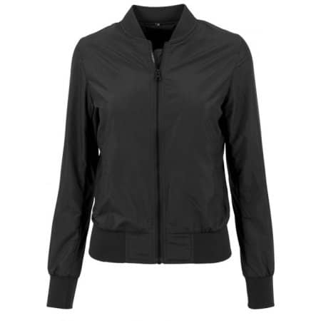 Ladies` Nylon Bomber Jacket von Build Your Brand (Artnum: BY044
