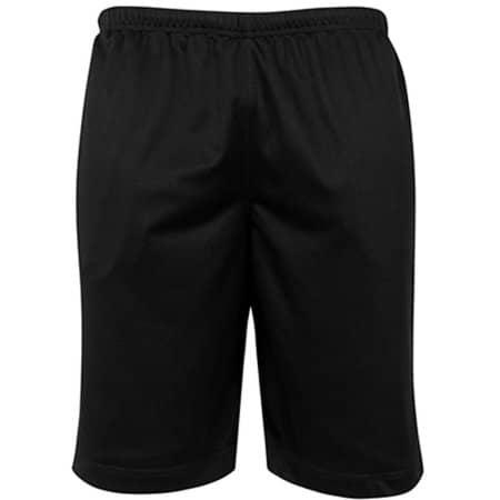 Mesh Shorts in Black von Build Your Brand (Artnum: BY048