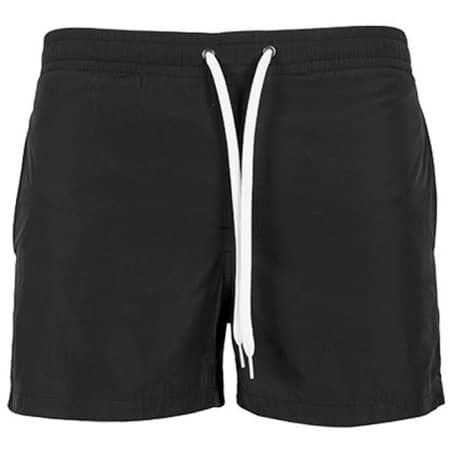 Swim Shorts in Black von Build Your Brand (Artnum: BY050