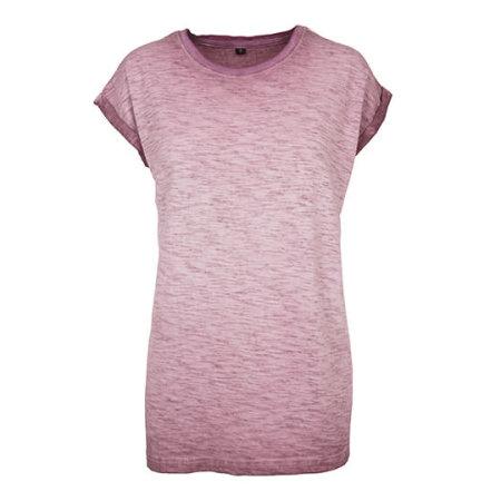 Ladies` Spray Dye Extended Shoulder Tee von Build Your Brand (Artnum: BY056