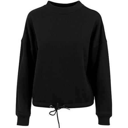 Ladies` Oversize Crewneck in Black von Build Your Brand (Artnum: BY058