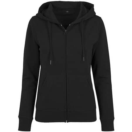 Ladies` Terry Zip Hoody in Black von Build Your Brand (Artnum: BY069