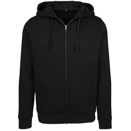 Merch Zip Hoody in Black von Build Your Brand (Artnum: BY085