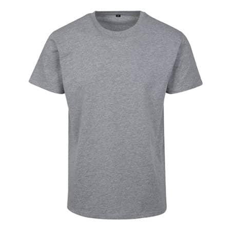 Basic T-Shirt in Heather Grey von Build Your Brand (Artnum: BY090