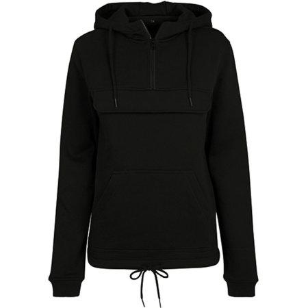 Ladies Sweat Pull Over Hoody in Black von Build Your Brand (Artnum: BY097