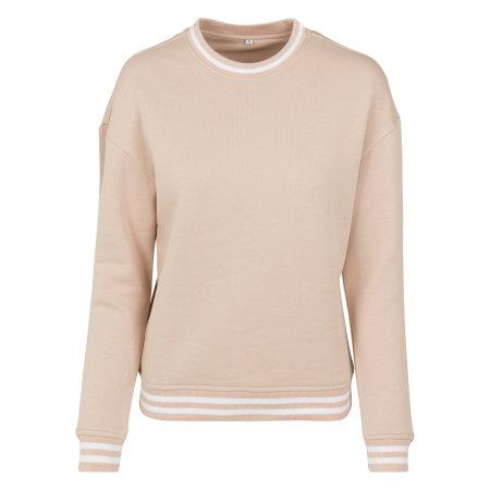 Ladies College Sweat Crew in Lightrose|White von Build Your Brand (Artnum: BY105