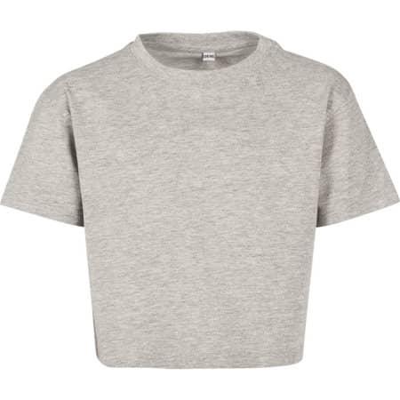 Girls Cropped Jersey Tee von Build Your Brand (Artnum: BY114