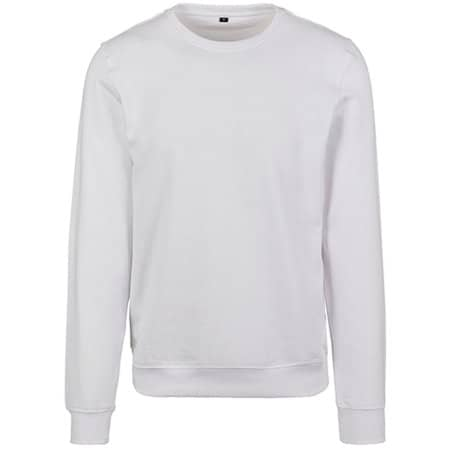 Premium Crewneck Sweatshirt in White von Build Your Brand (Artnum: BY119