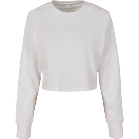 Ladies Terry Cropped Crew von Build Your Brand (Artnum: BY131