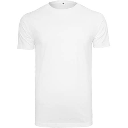 Organic T-Shirt Round Neck in White von Build Your Brand (Artnum: BY136