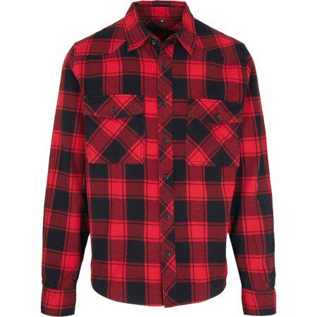Check Shirt in Red-Black von Build Your Brandit (Artnum: BYB4002