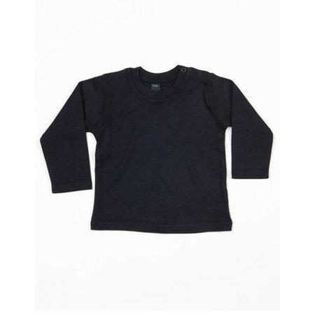 Baby Long Sleeve T in Black von Babybugz (Artnum: BZ11