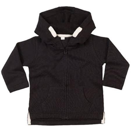 Baby Hoodie in Black von Babybugz (Artnum: BZ32