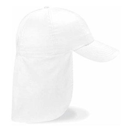 Junior Legionnaire Style Cap in White von Beechfield (Artnum: CB11b