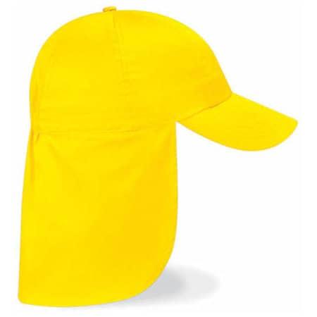 Junior Legionnaire Style Cap in Yellow von Beechfield (Artnum: CB11b