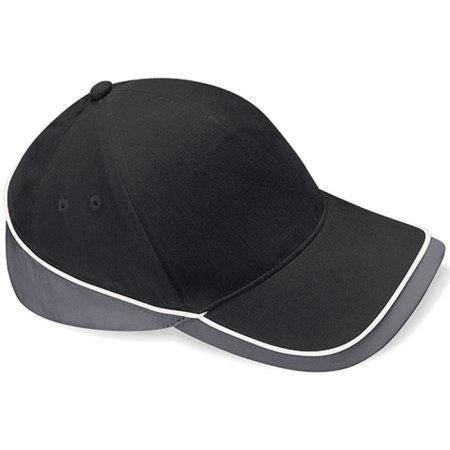 Teamwear Competition Cap in Black|Graphite Grey|White von Beechfield (Artnum: CB171