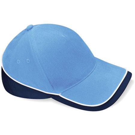Teamwear Competition Cap in Sky Blue|French Navy|White von Beechfield (Artnum: CB171