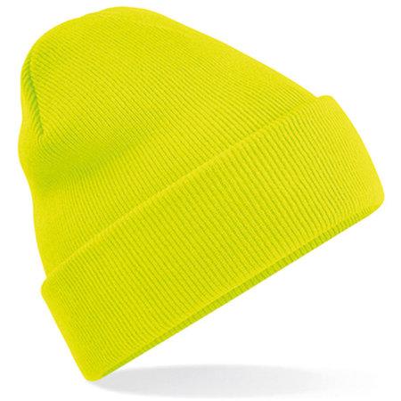 Original Cuffed Beanie in Fluorescent Yellow von Beechfield (Artnum: CB45