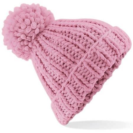 Oversized Hand-Knitted Beanie in Dusky Pink von Beechfield (Artnum: CB483