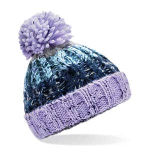 Junior Corkscrew Pom Pom Beanie