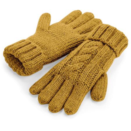 Cable Knit Melange Gloves von Beechfield (Artnum: CB497