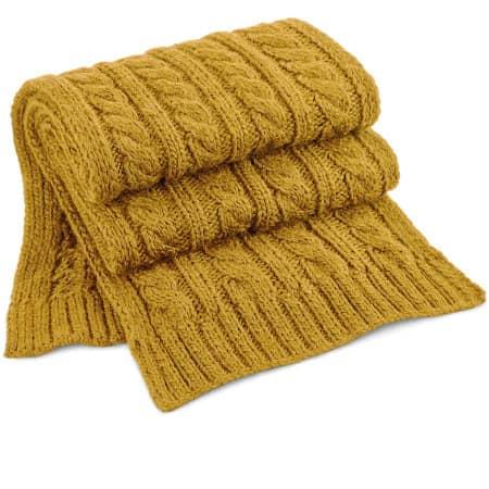 Cable Knit Melange Scarf von Beechfield (Artnum: CB499