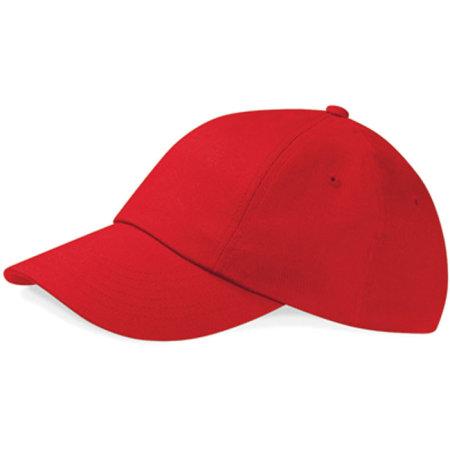 Low Profile Heavy Cotton Drill Cap in Classic Red von Beechfield (Artnum: CB58