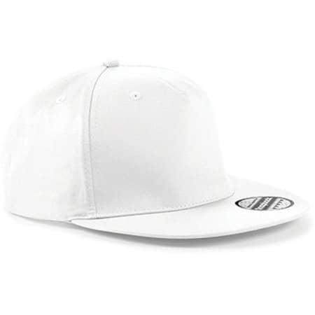 5-Panel Snapback Rapper Cap in White von Beechfield (Artnum: CB610