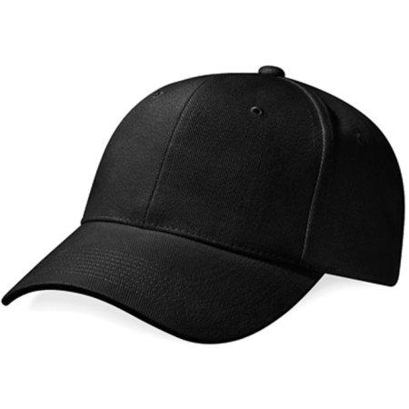 Pro-Style Heavy Brushed Cotton Cap in Black von Beechfield (Artnum: CB65