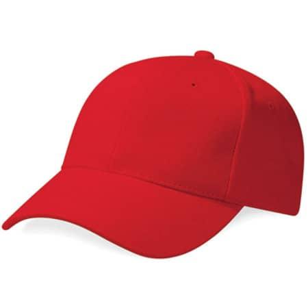 Pro-Style Heavy Brushed Cotton Cap in Classic Red von Beechfield (Artnum: CB65