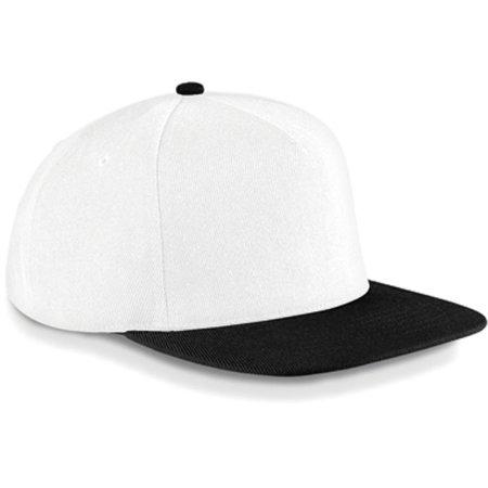 Original Flat Peak Snapback in White|Black von Beechfield (Artnum: CB660