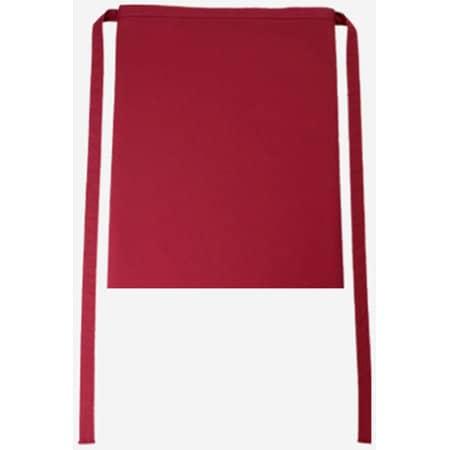 Bistroschürze Roma 50 x 78 cm in Cherry von CG Workwear (Artnum: CGW123