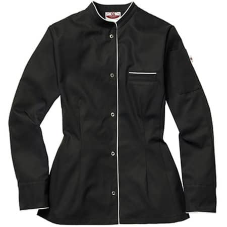 Kochjacke Pistoia Lady in Black|White von CG Workwear (Artnum: CGW3630