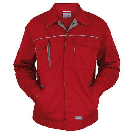 Contrast Work Jacket in Red|Grey von Carson Contrast (Artnum: CR700