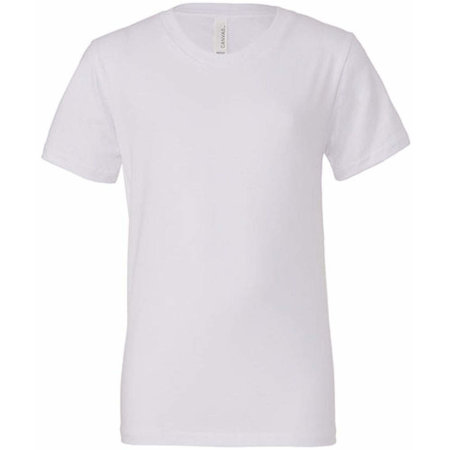 Youth Jersey Short Sleeve Tee in White von Canvas (Artnum: CV3001Y