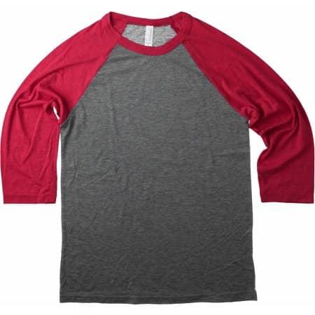 Unisex 3 / 4 Sleeve Baseball T-Shirt von Canvas (Artnum: CV3200
