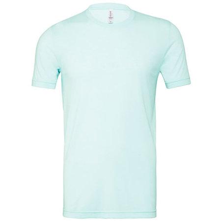Unisex Triblend Crew Neck T-Shirt in Mint Triblend (Heather) von Canvas (Artnum: CV3413